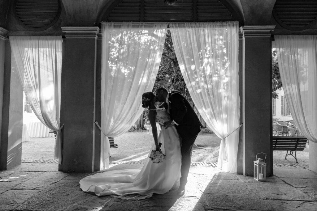 foto matrimonio biano e nero