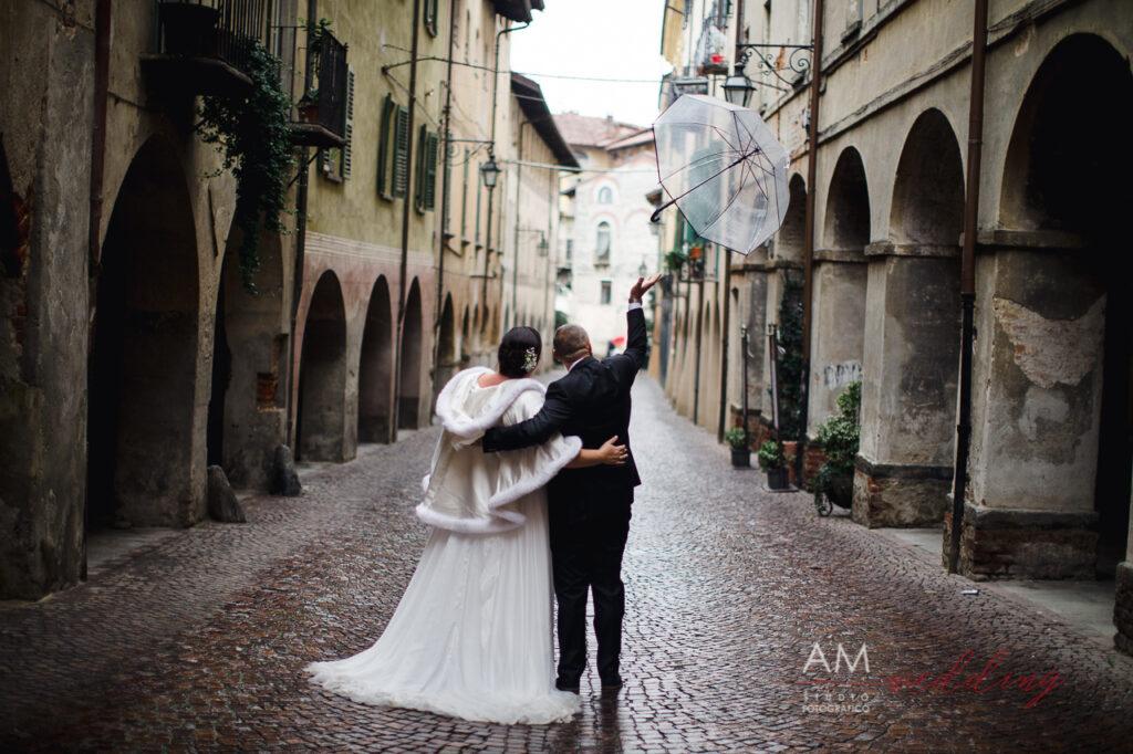 sposi ombrello